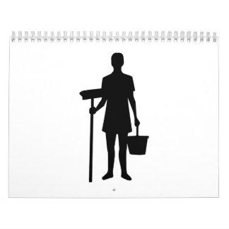 Cleaning staff calendar