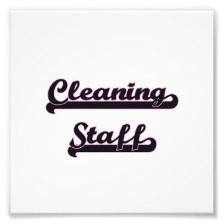 Cleaning Staff Classic Job Design Photo Print