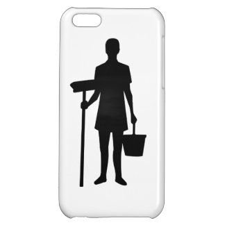 Cleaning staff iPhone 5C cases