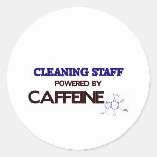 Cleaning Staff Powered by caffeine Sticker