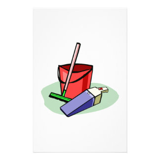 Cleaning Supplies Personalized Stationery