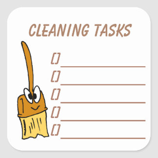 Cleaning Tasks Planner Sticker