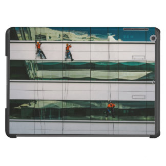 Cleaning windows of a skyscraper iPad air case