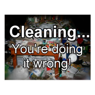 Cleaning You're Doing it Wrong! Post Card
