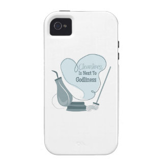 Cleanliness Is Next To Godliness Case-Mate iPhone 4 Cases