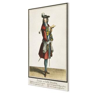 Cleante se vistió como caballero, placa de moda, c impresión en lienzo estirada