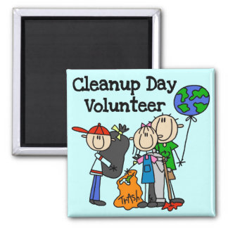 Cleanup Day Volunteer T-shirts and Gifts 2 Inch Square Magnet