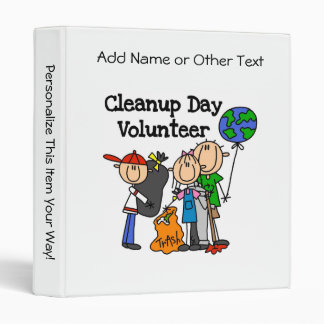 Cleanup Day Volunteer T-shirts and Gifts 3 Ring Binder