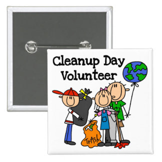 Cleanup Day Volunteer T-shirts and Gifts Button