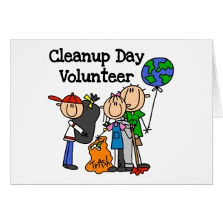Cleanup Day Volunteer T-shirts and Gifts card