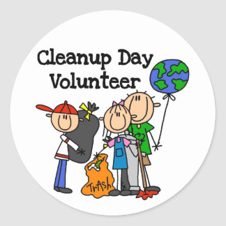 Cleanup Day Volunteer T-shirts and Gifts Classic Round Sticker