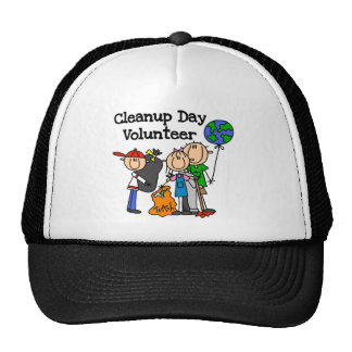 Cleanup Day Volunteer T-shirts and Gifts Trucker Hat