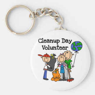 Cleanup Day Volunteer T-shirts and Gifts Keychain