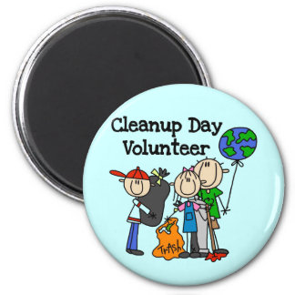 Cleanup Day Volunteer T-shirts and Gifts Fridge Magnets