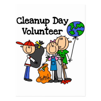 Cleanup Day Volunteer T-shirts and Gifts Postcard