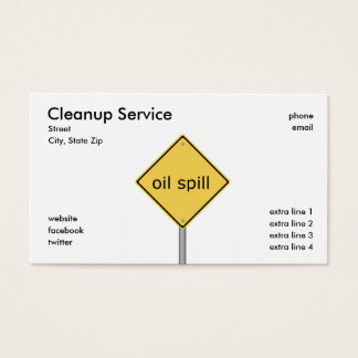 Cleanup Service Business Card