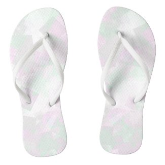 Clear Amour Snuff Mint Flip Flops
