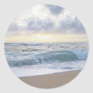 Clear Beach Day Classic Round Sticker
