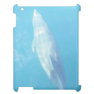 Clear blue dolphin iPad cover