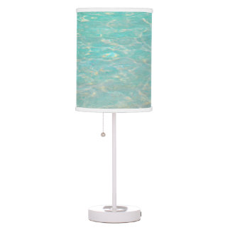 """CLEAR BLUE-GREEN CARIBBEAN WATER"" TABLE LAMP"