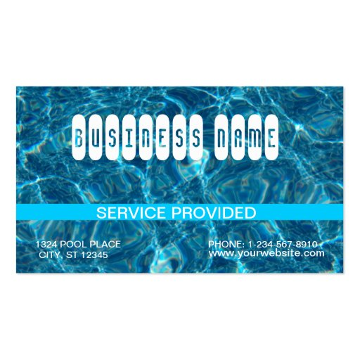 Clear Blue Pool Business Card