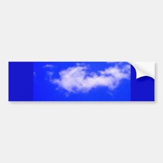 Clear Blue Sky and White Clouds Bumper Sticker