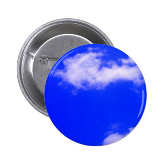 Clear Blue Sky and White Clouds Pinback Button
