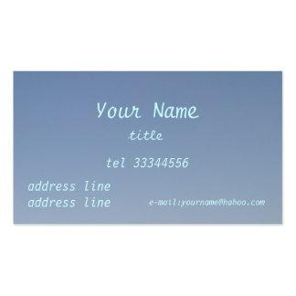 clear blue sky business card