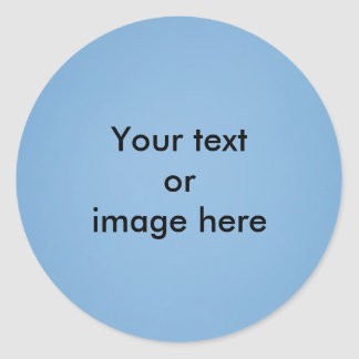 Clear blue sky photo template classic round sticker
