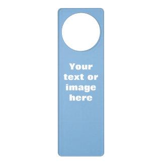 Clear blue sky photo template door hanger