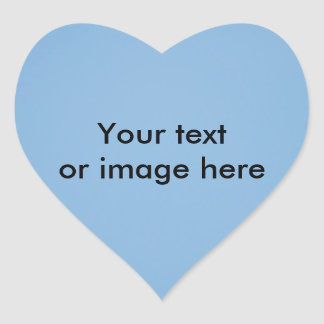 Clear blue sky photo template heart sticker