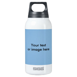 Clear blue sky photo template insulated water bottle
