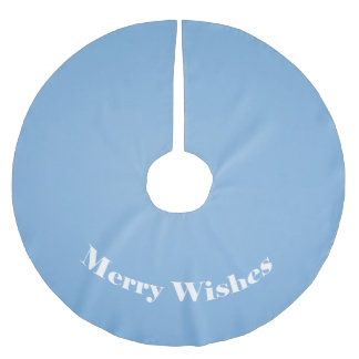 Clear blue sky photo template brushed polyester tree skirt