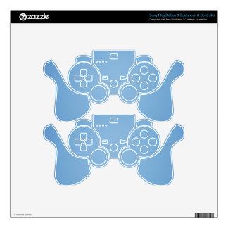 Clear blue sky photo template PS3 controller decal