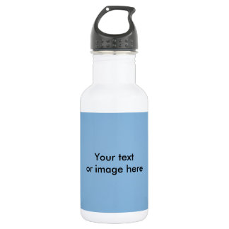 Clear blue sky photo template stainless steel water bottle