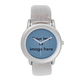 Clear blue sky photo template wristwatch