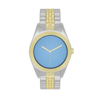 Clear blue sky photo template wrist watch
