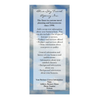 Clear Blue Sky Rack Card