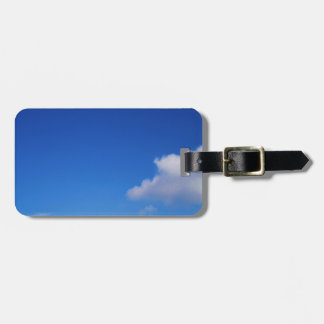 Clear Blue Sky & White Clouds Bag Tag