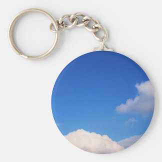 Clear Blue Sky & White Clouds Keychain