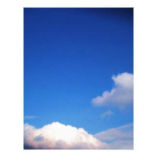 Clear Blue Sky & White Clouds Letterhead