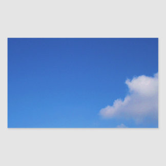 Clear Blue Sky & White Clouds Rectangular Sticker