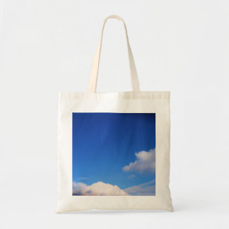 Clear Blue Sky & White Clouds Tote Bag
