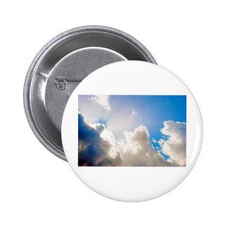 Clear Blue Sunburst Button