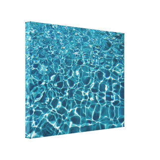 Clear Blue Water Canvas Print