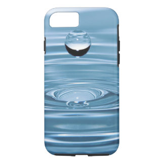 Clear Blue Water Drops Barely There iPhone 7 cases