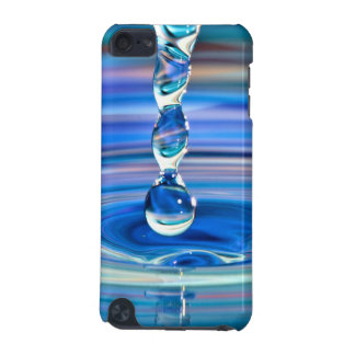 Clear Blue Water Drops Flowing iPod Touch (5th Generation) Cover