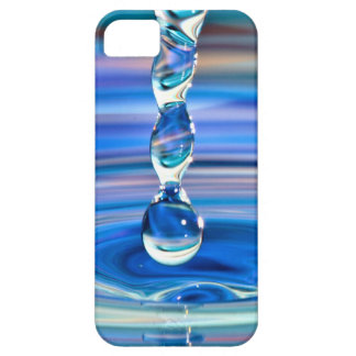 Clear Blue Water Drops Flowing iPhone 5 Cases