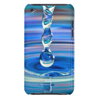 Clear Blue Water Drops Flowing iPod Touch Case-Mate Case