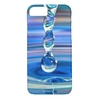 Clear Blue Water Drops Flowing iPhone 7 Case